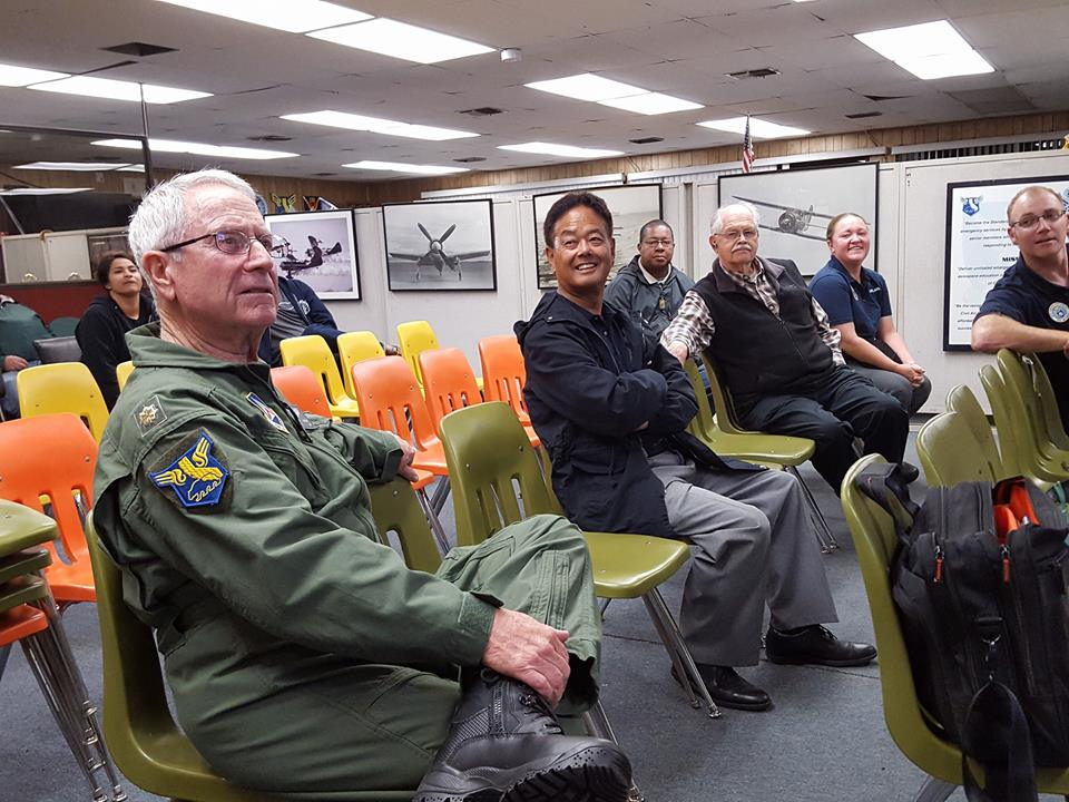 Maj. Jerry Civalleri (L) And Other Squadron 150 Members During A Meeting. Civil  Air Patrol Picture By 1st Lt. Rommel Anacan