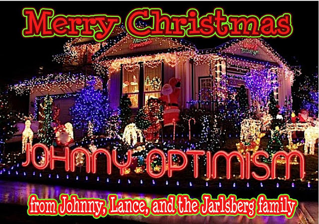 johnny optimism, medical, humor, sick, jokes, boy, wheelchair, doctors, hospital, stilton jarlsberg, christmas lights, christmas, 2017