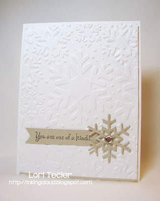 You Are One of a Kind-designed by Lori Tecler-Inking Aloud-stamps and dies from Lil' Inker Designs