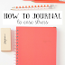 How to Journal to Ease Stress