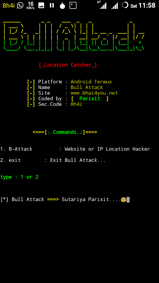 Bull Attack - Hack Any Website or Ip Location in Termux - Bhai 4 You