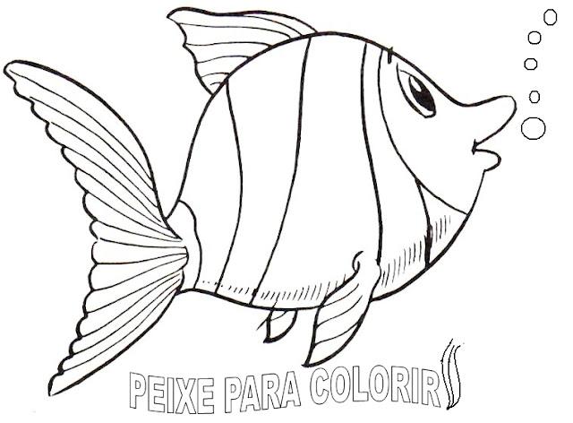 Desenho De Peixe Para Colorir - Colorir
