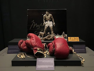 Source: Museum of Islamic Art Facebook page. View of boxing gloves.