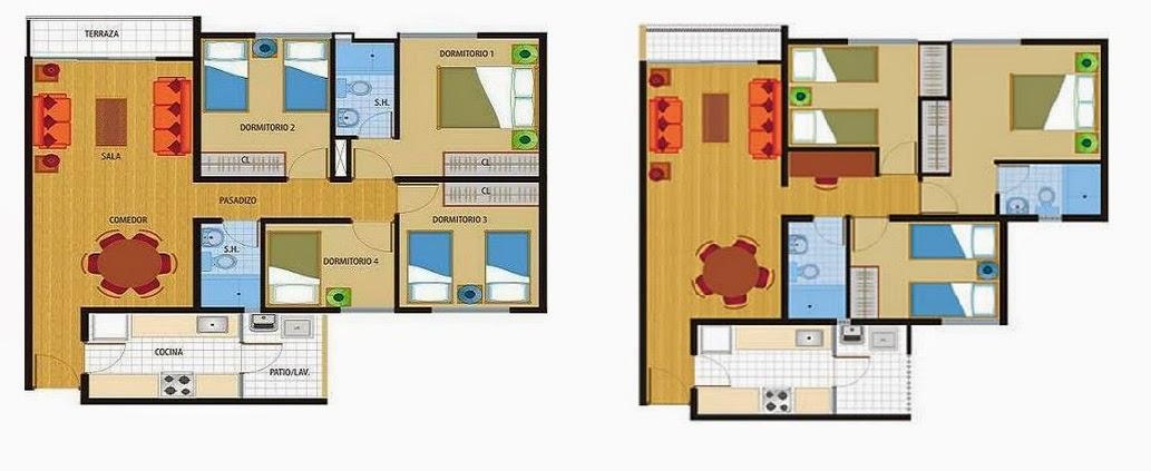 Planos casas modernas planos vivienda chorrillos peru for Planos de viviendas de 2 dormitorios