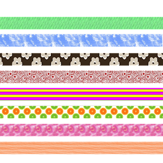 PNG Nr. 1 mit 8 verschiedenen Streifen, waagrecht