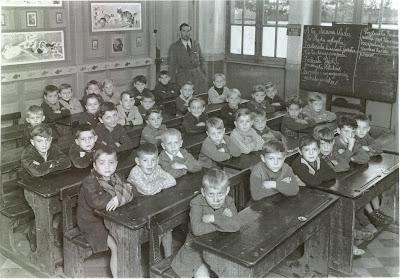 Ecole de garçons des Gautherets, cours de polonais, 1953/1954 (collection musée)