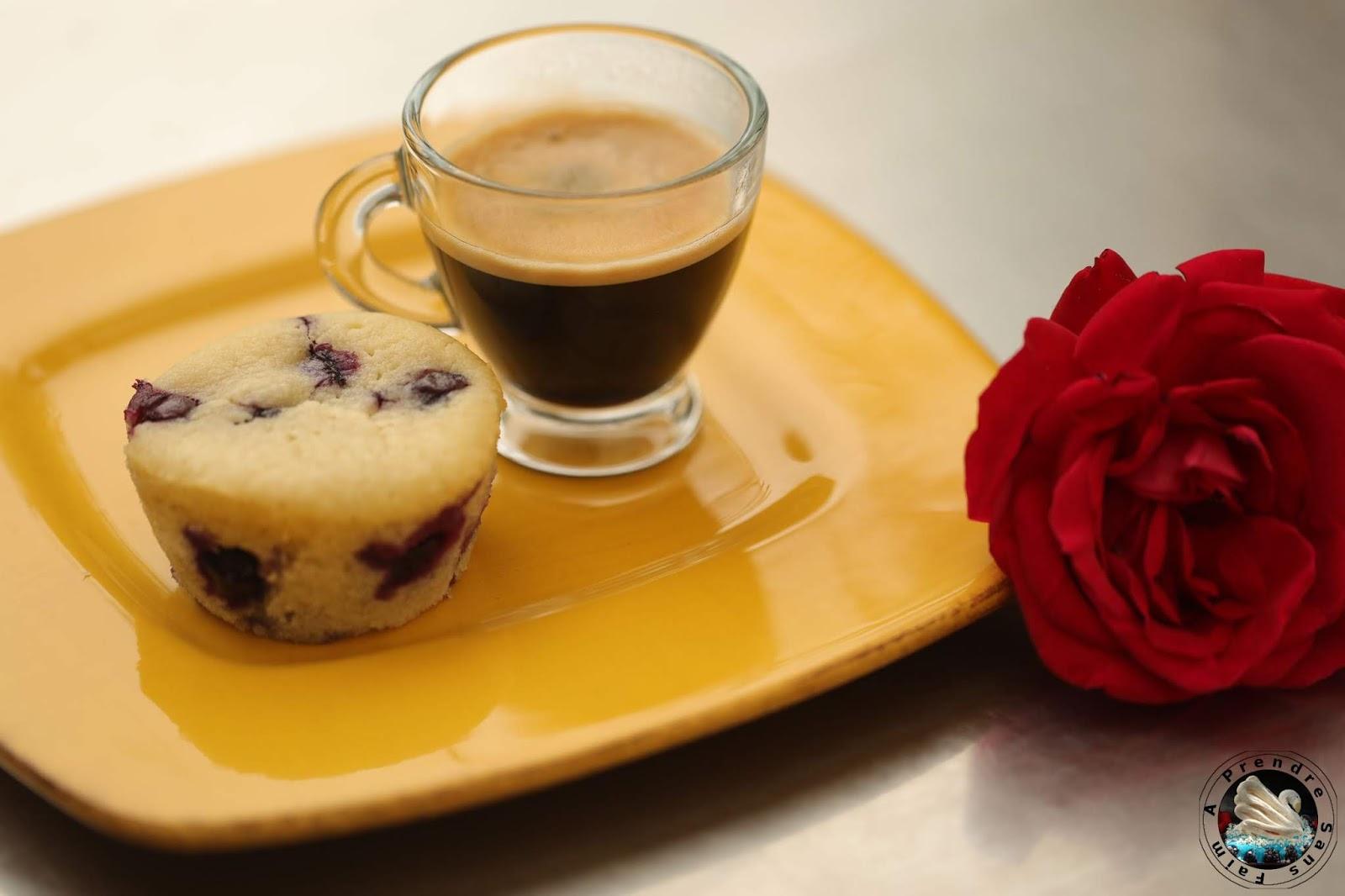 Muffins aux myrtilles fraîches