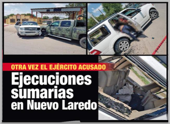 Sicarios atacan a Soldados en NUEVO LAREDO, Soldados responden los persiguen y los matan, ahora son acusados por madre de Sicario y la CNDH