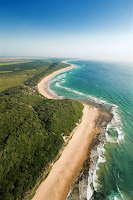 Kuş bakışı Mozambik kıyıları