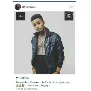 """Congrat to""""Ola Dips"""" as Reminisce signs him"""