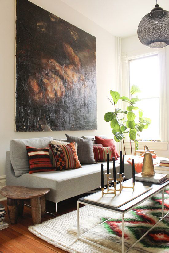 DECOR TREND: Large scale wall art | Design and photography by Emma Reddington of The Marion House Book