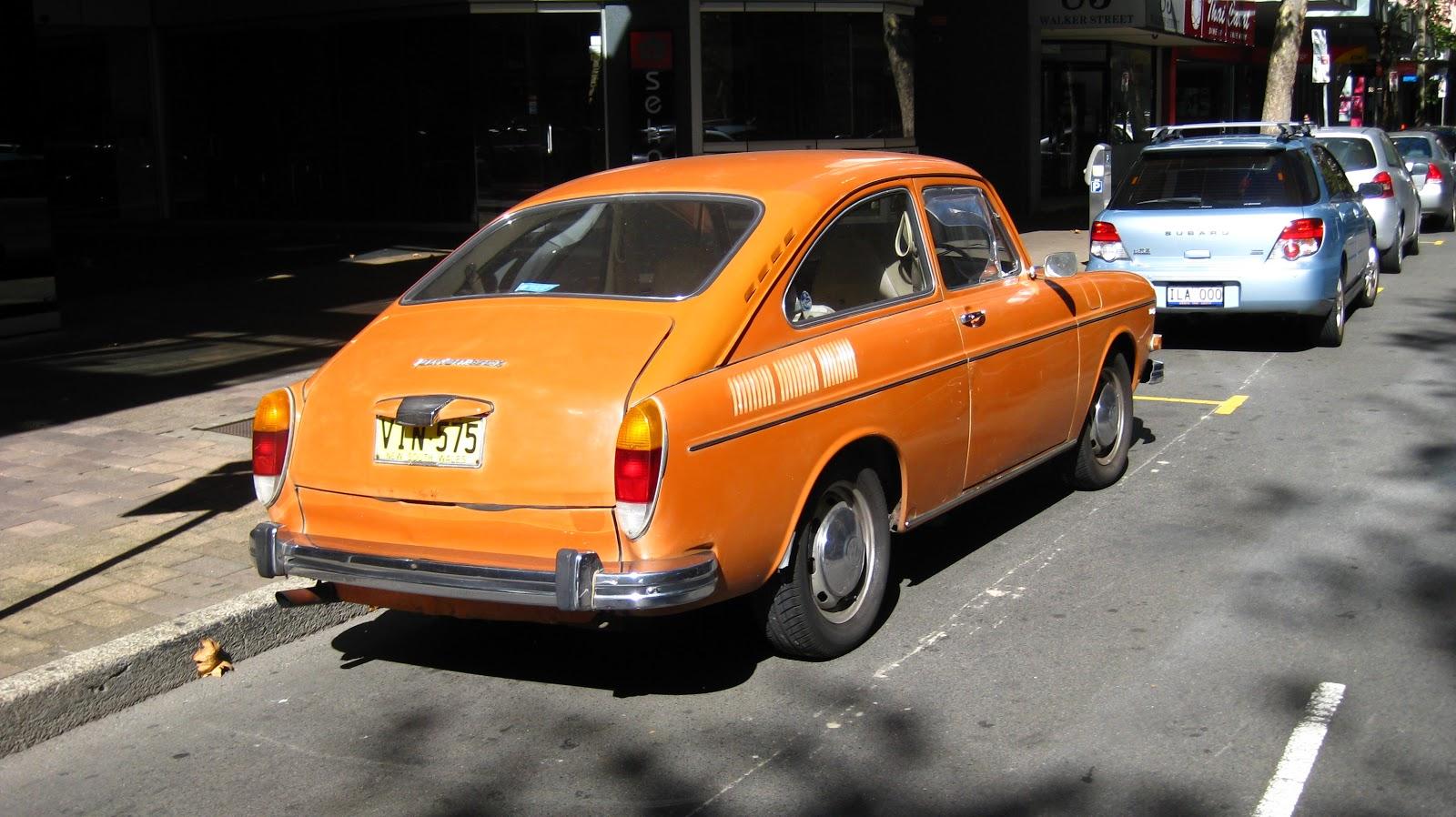 Aussie Old Parked Cars 1973 Volkswagen 1600 Type 3 Fastback