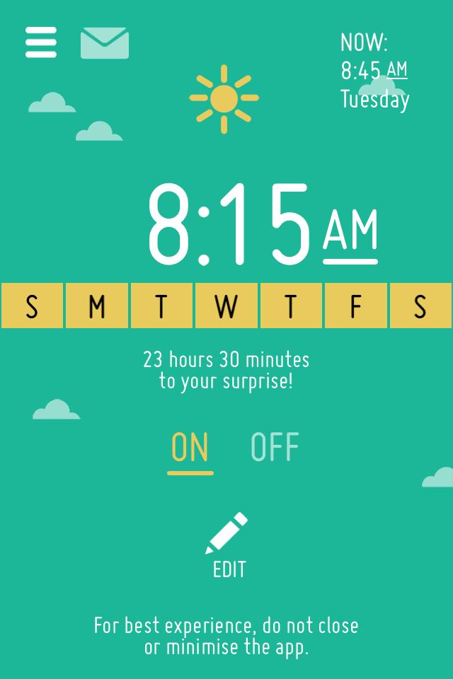 Agedashi23cents: McDonald's Surprise Alarm App