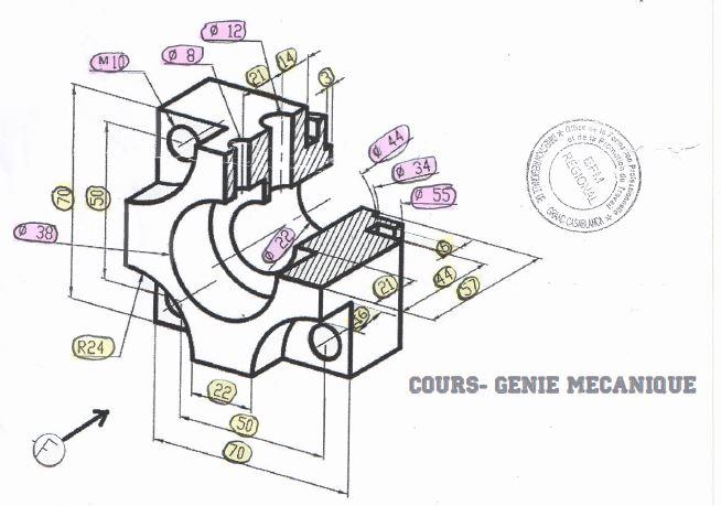 Examen de passage dessin industriel TSMFM
