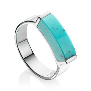 Monica Vinader - Turquoise Linear Ring - One Simple gemstone to transport you on holiday