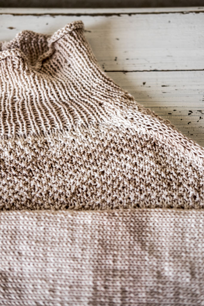 Handgemacht DIY - lässigen Pullover aus Baumwollgarn stricken by fim.works