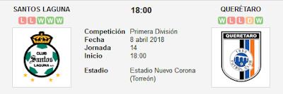 Santos Laguna vs Querétaro en VIVO