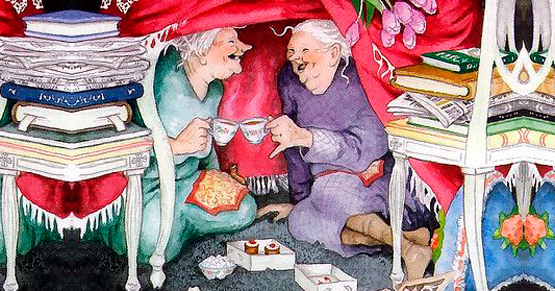 vecchiette che ridono