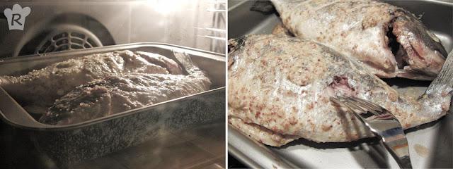 Receta de dorada a la egipcia: horneado del pescado