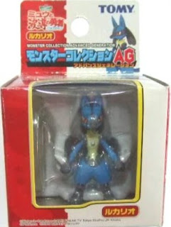 Lucario figure Tomy Monster Collection AG series