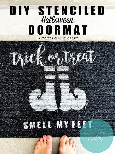DIY Stenciled Halloween Doormat