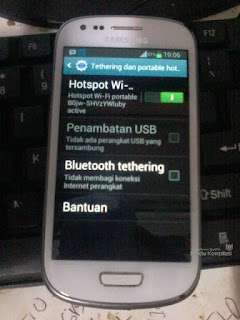 Koneksi Internet Hotspot WiFi