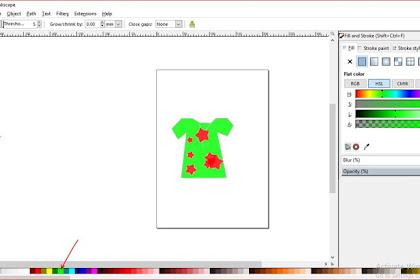Cara menggambar desain baju sederhana dengan inkscape