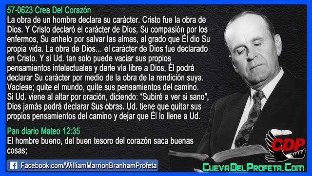 Cual es el carácter de Dios - Citas William Branham Mensajes