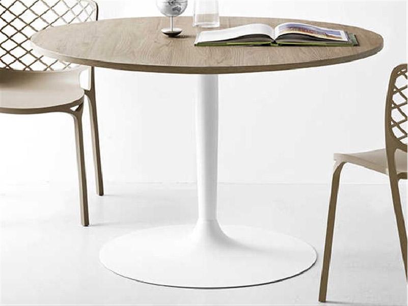 tavolo rotondo con piano in nobilitato