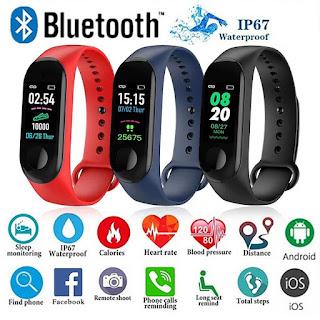 m3 braccialetto orologio smartwatch