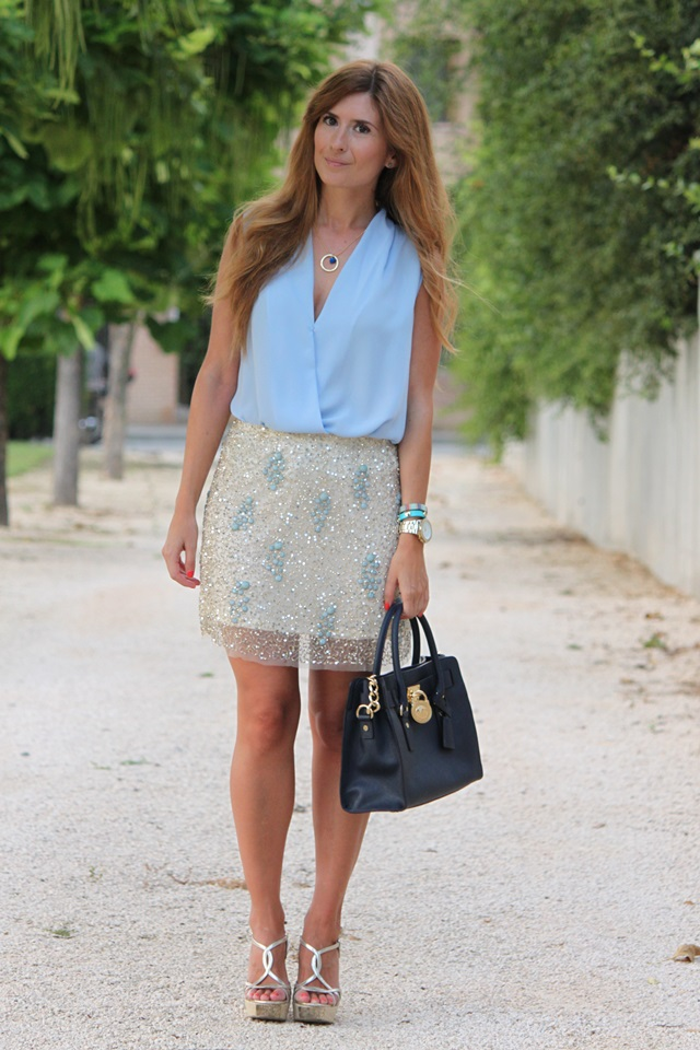 Blouse De Blog Moda Blue And LifestyleSequins Skirt Y DYH9bEeW2I