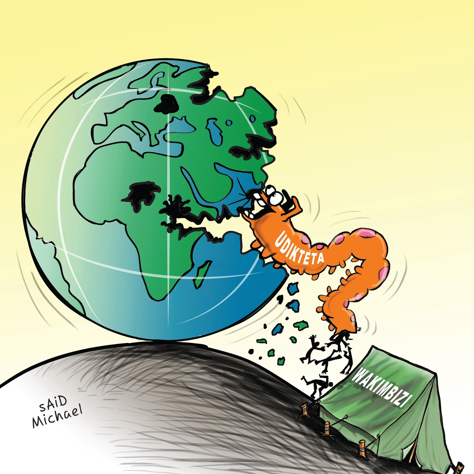 Image result for said michael cartoon