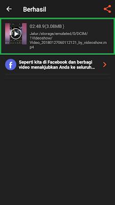 Lokasi Penyimpanan Hasil Video