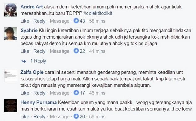 Demi Ketertiban Umum Polri Larang Aksi Super Damai 212, Netizen: Demi Ketertiban Umum Seharusnya Ahok Ditangkap