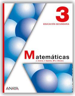Libro Matemáticas 3º ESO Anaya