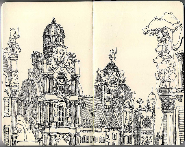 21-The-French-Baroque-Mattias-Adolfsson-Surreal-Architectural-Moleskine-Drawings-www-designstack-co