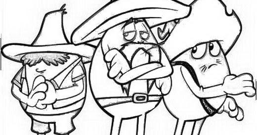 Huevos Rancheros Para Colorear 4 Dibujo