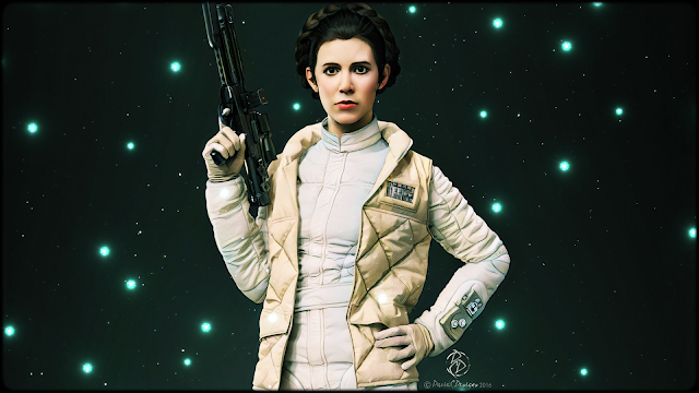 Carrie Fisher, 1956-2016, Leia Organa, Star Wars, Leia Amidala Skywalker, The Force, Digital Drawing, Digital Art, Digital Painting, Artwork, Tribute, David C.Designs