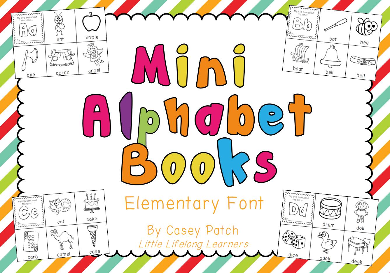 Little Lifelong Learners Mini Alphabet Booklets
