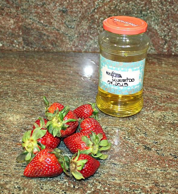 Ingredientes para cobertura tarta de fresas