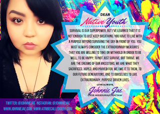 """Dear Native Youth"" graphic"