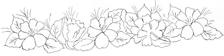 risco para pintura em tecido hibiscos