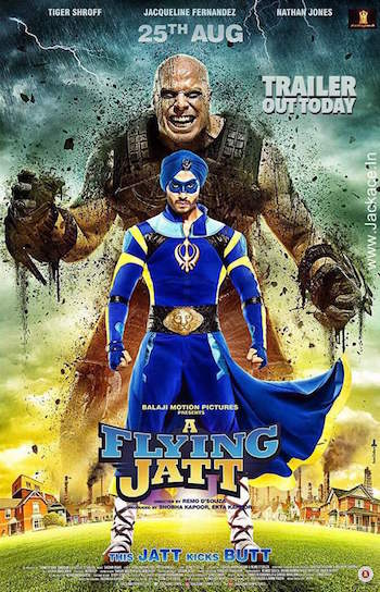 Poster of A Flying Jatt Full Hindi Movie Download Hd Watch online Free worldfree4u
