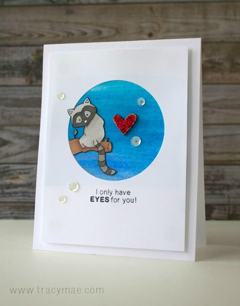 Zoo Animal Valentine Card with Lemur by Tracy Gruber| Newton's Nook Designs | Wild about Zoo Stamp Set