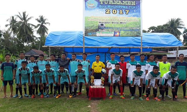Berlangsung Sukses, Markas 99 U-19 Juarai Turnamen Sepak Bola Mini HIPPMA CUP I