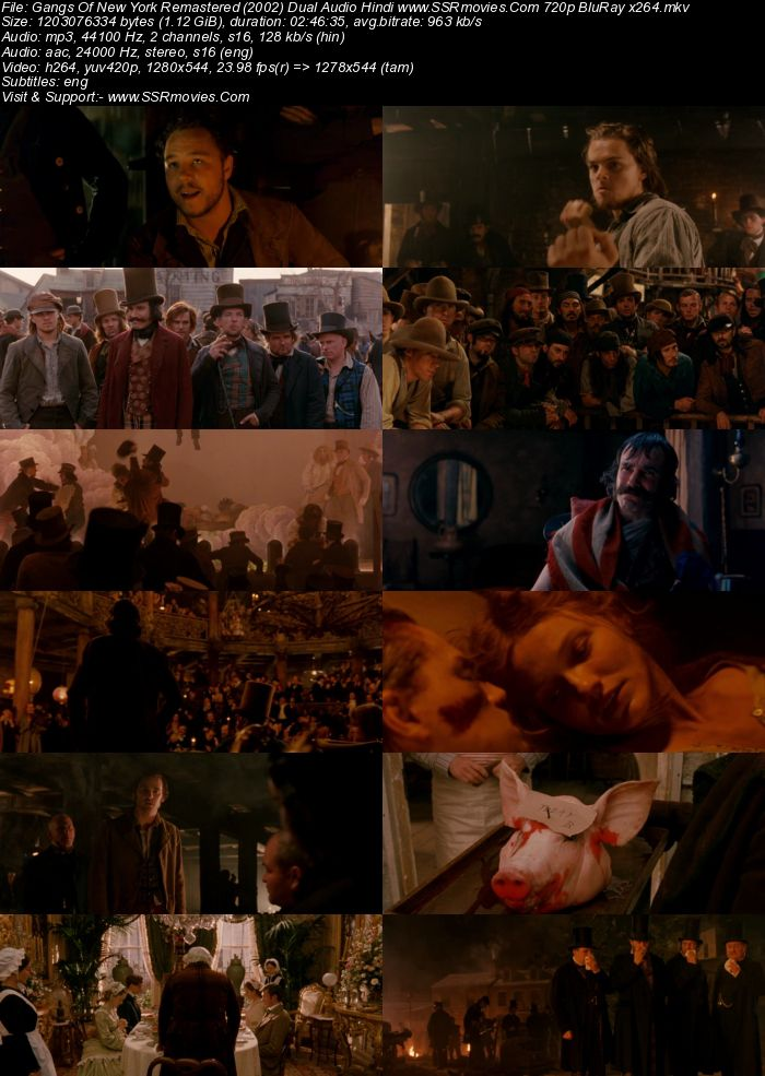 Gangs Of New York Remastered (2002) Dual Audio Hindi 480p BluRay 500MB Movie Download