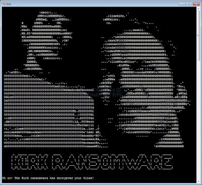ransom note - Scoperto nuovo ransomware ispirato alla saga di Star Trek chiamato KIRK