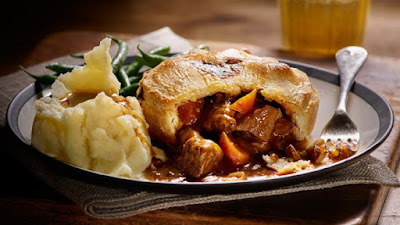 English wagyu beef pie.