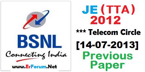 bsnl-je-2012-new-paper