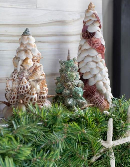 Seashell Cone Christmas Trees